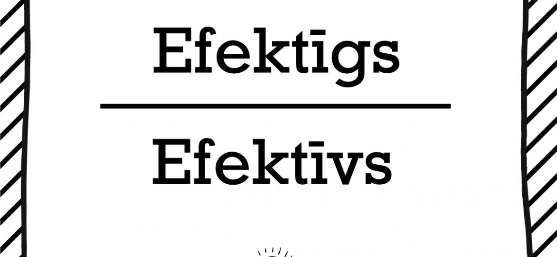 """Skrivanek Baltic valodas padoms """"Efektīgs"""" pret """"Efektīvs"""""""