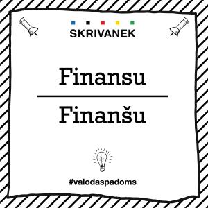 """Skrivanek Baltic valodas padoms """"Finansu"""" pret """"Finanšu"""