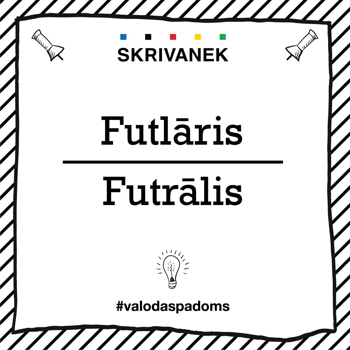 """Skrivanek Baltic valodas padoms """"Futlāris"""" pret """"Futrālis"""""""