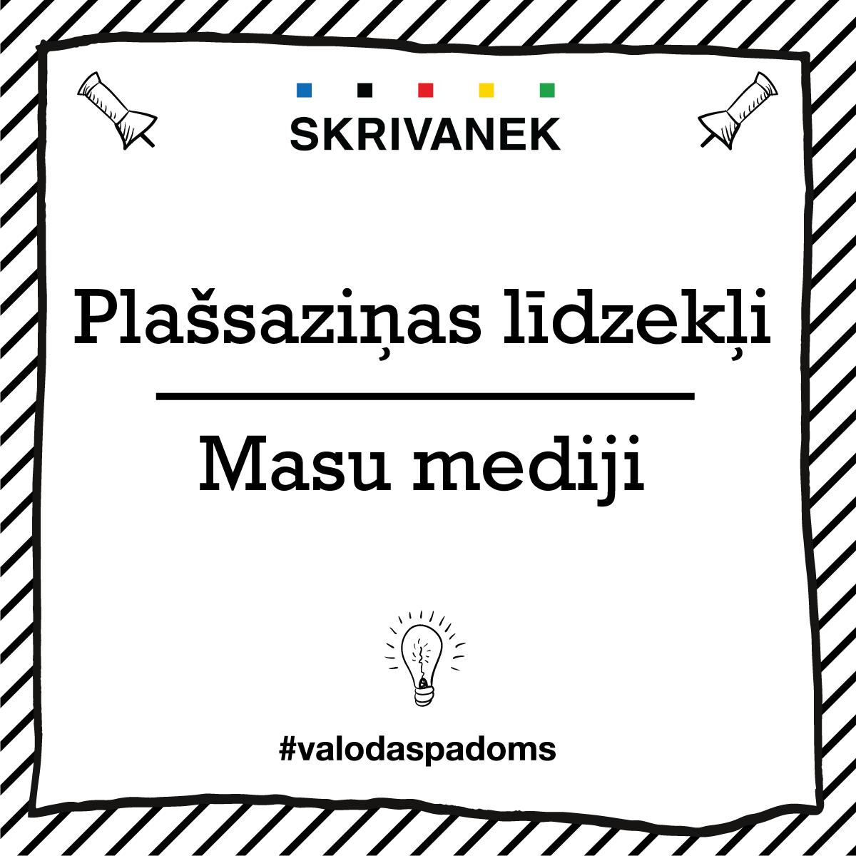 """Skrivanek Baltic valodas padoms """"Plašsaziņas līdzekļi"""" pret """"Masu mediji"""""""