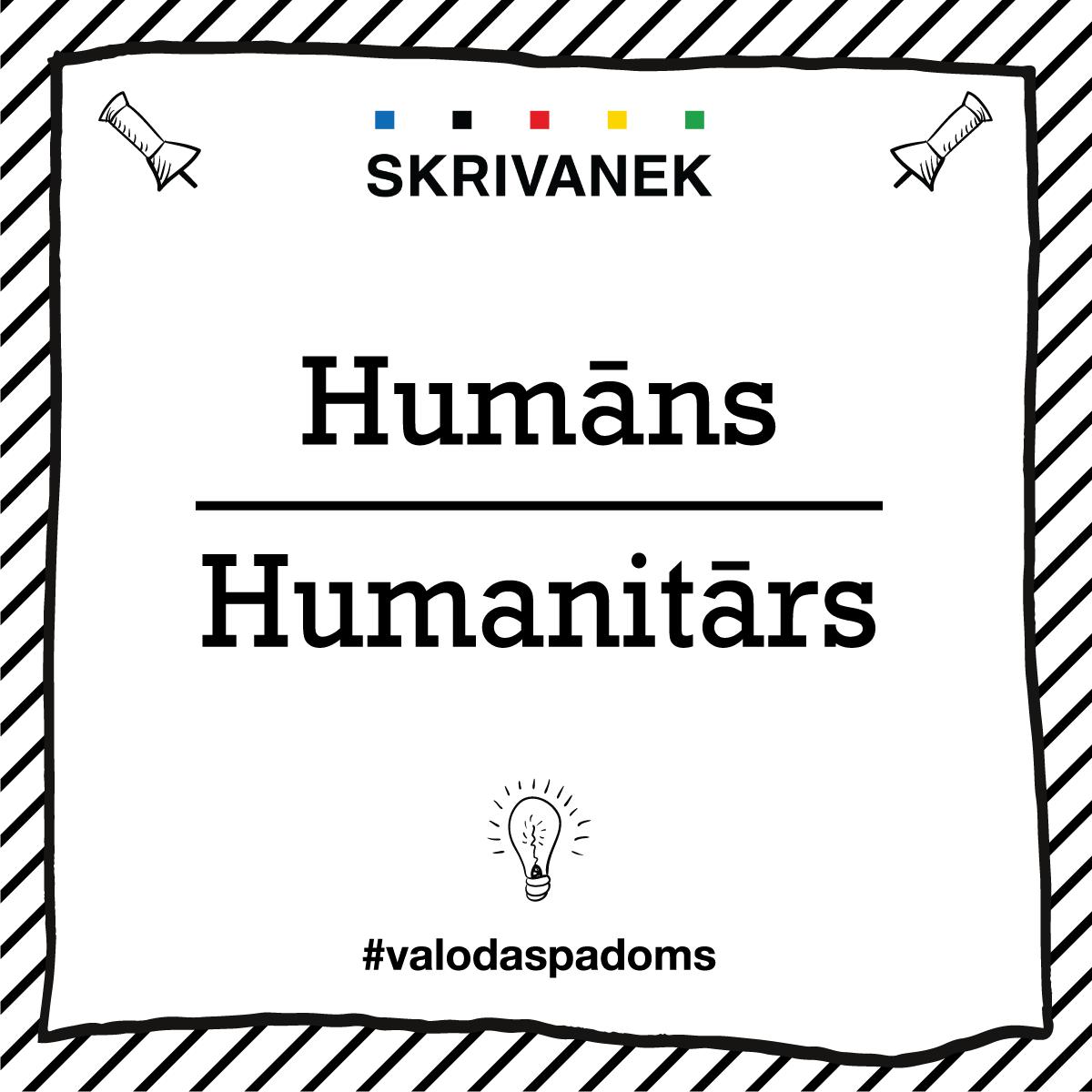 """Skrivanek Baltic valodas padoms """"Humāns"""" pret """"Humanitārs"""""""