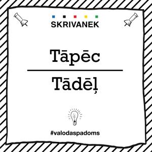 """Skrivanek Baltic valodas padoms """"Tādēļ"""" pret """"Tāpēc"""""""