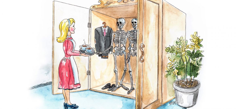 Skrivanek valodas pērle - Asakas atvilktnē un kauli skapī