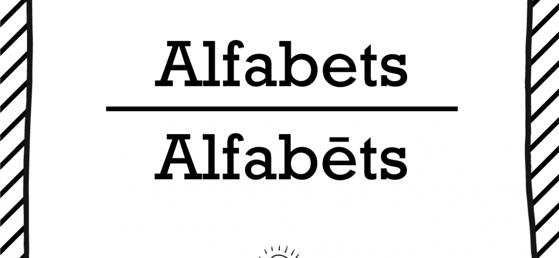 "Skrivanek Baltic valodas padoms ""Alfabets"" pret ""Alfabēts"""