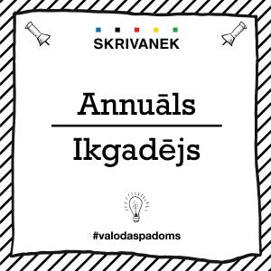 """Skrivanek Baltic valodas padoms """"Annuāls"""" pret """"Ikgadējs"""