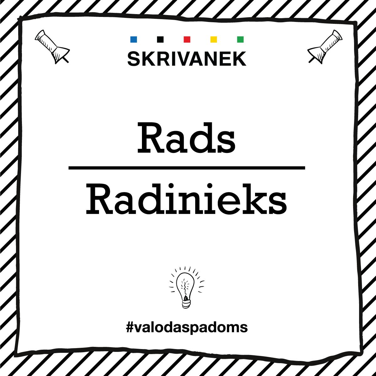"""Skrivanek Baltic valodas padoms """"Rads"""" pret """"Radinieks"""""""