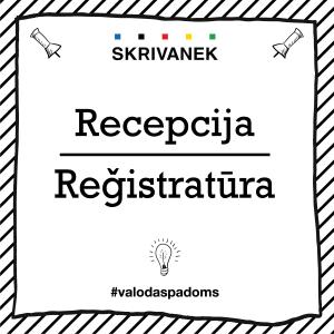 """Skrivanek Baltic valodas padoms """"Recepcija"""" pret """"Reģistratūra"""""""