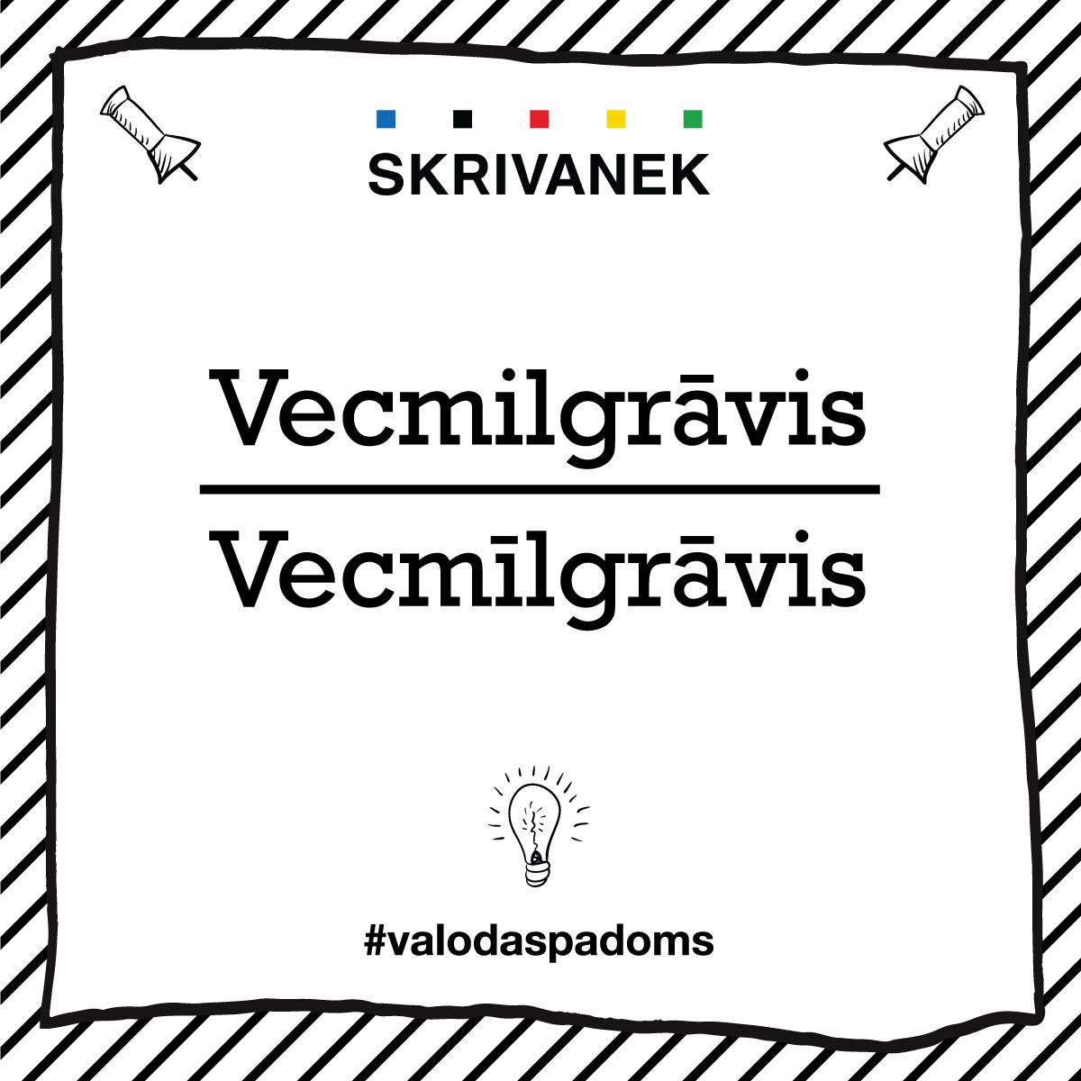 """Skrivanek Baltic valodas padoms """"Vecmilgrāvis"""" pret """"Vecmīlgrāvis"""""""