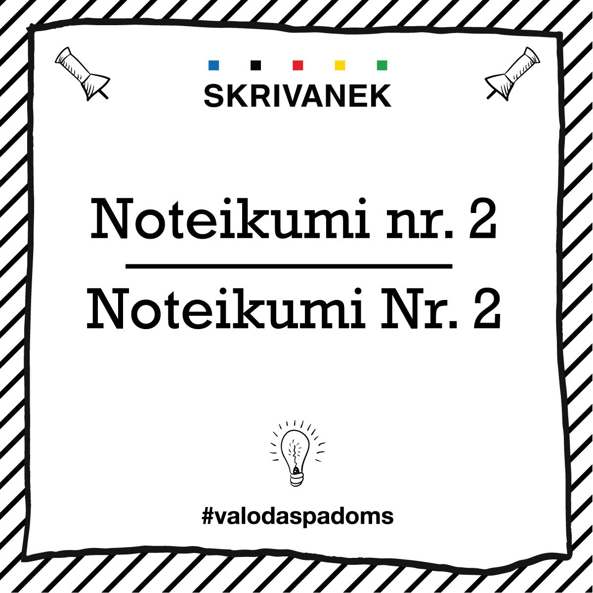 """Skrivanek Baltic valodas padoms """"Noteikumi nr. 2"""" pret """"Noteikumi Nr. 2"""""""