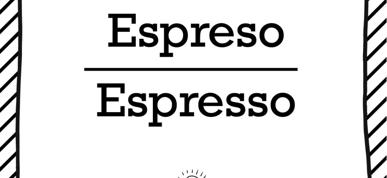 "Skrivanek Baltic valodas padoms ""Espreso"" pret ""Espresso"""