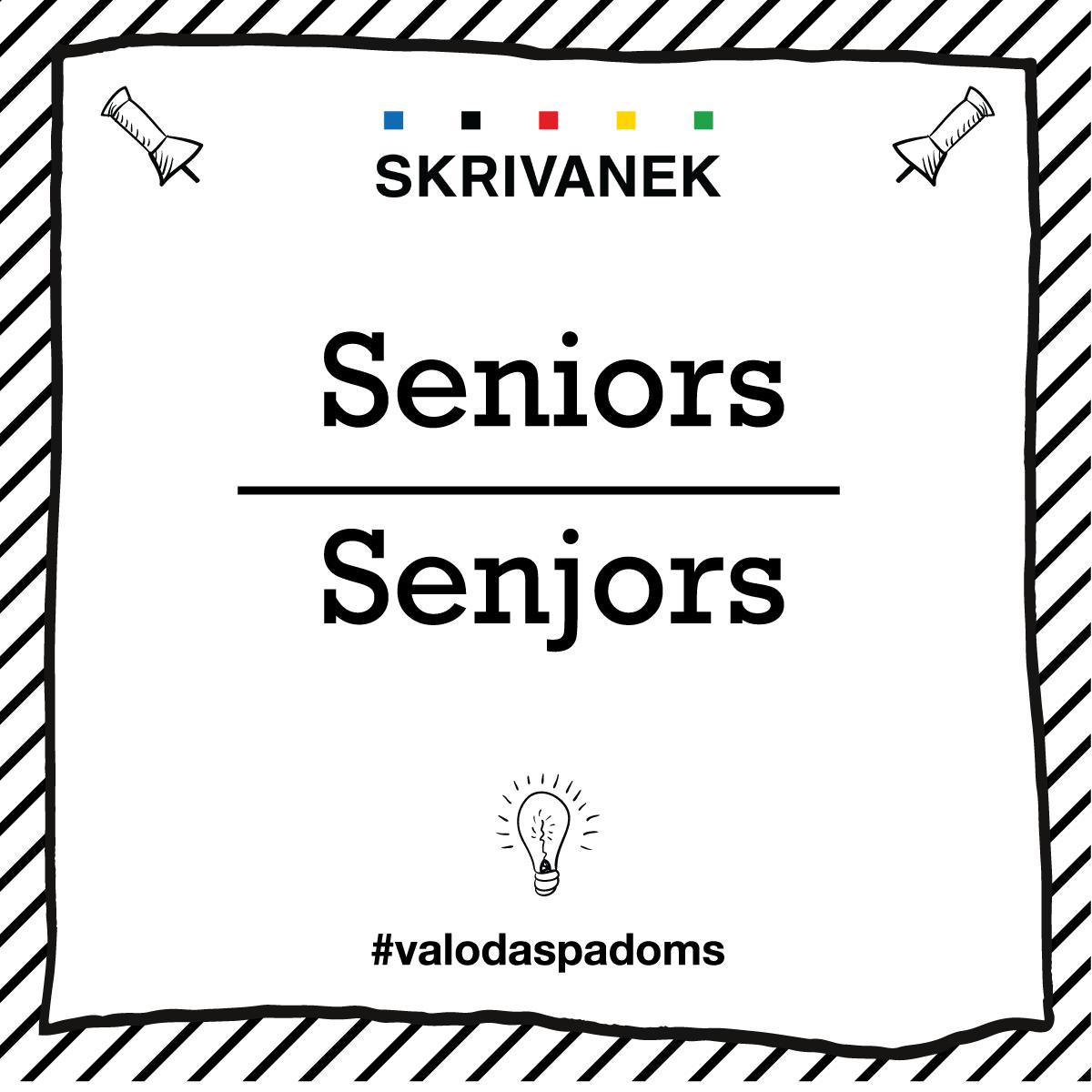 "Skrivanek Baltic valodas padoms ""Seniors"" pret ""Senjors"""