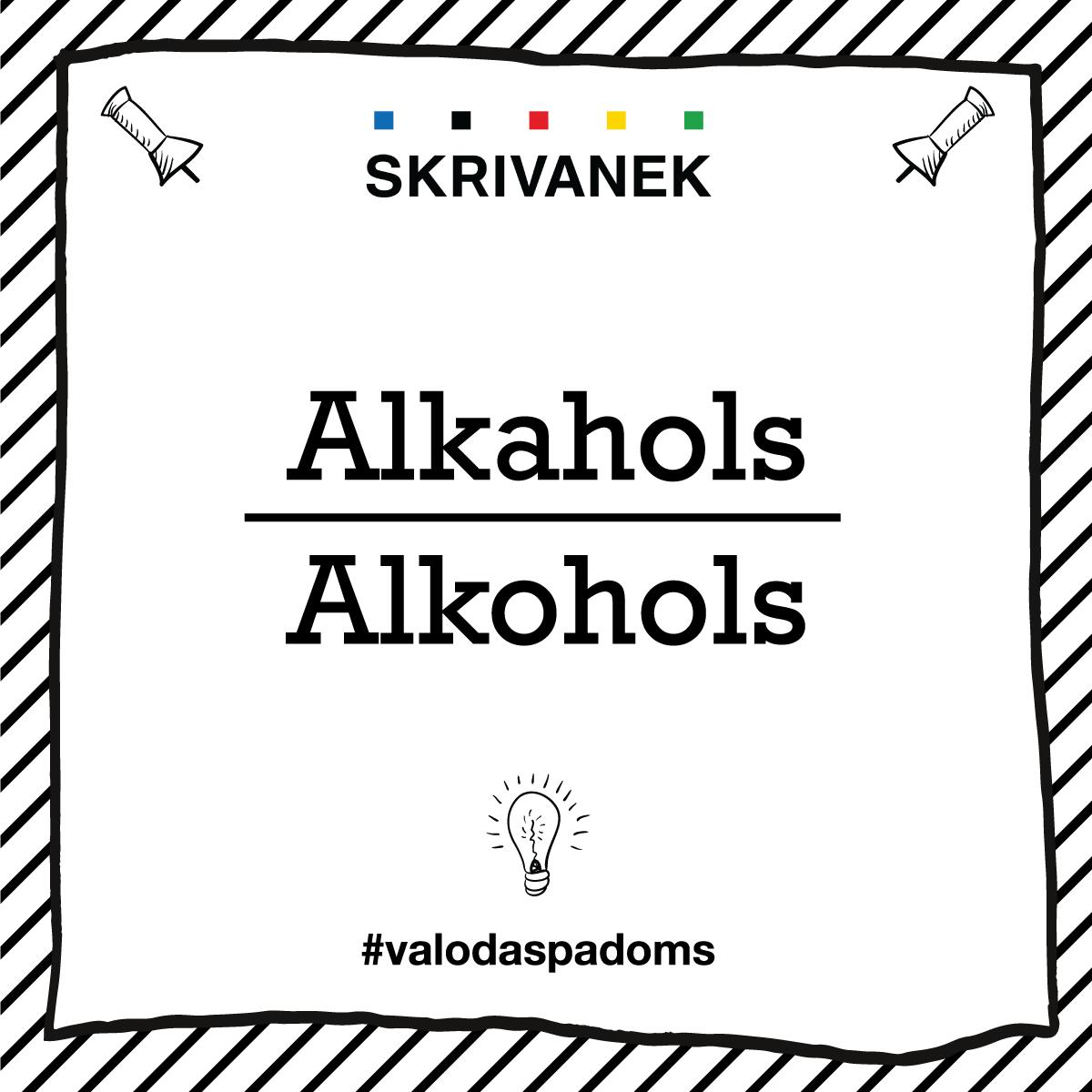 """Skrivanek Baltic valodas padoms """"alkahols"""" pret """"alkohols"""""""