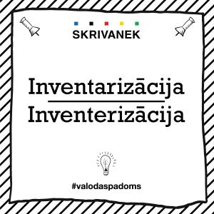 """Skrivanek Baltic valodas padoms """"inventarizācija"""" pret """"inventerizācija"""""""