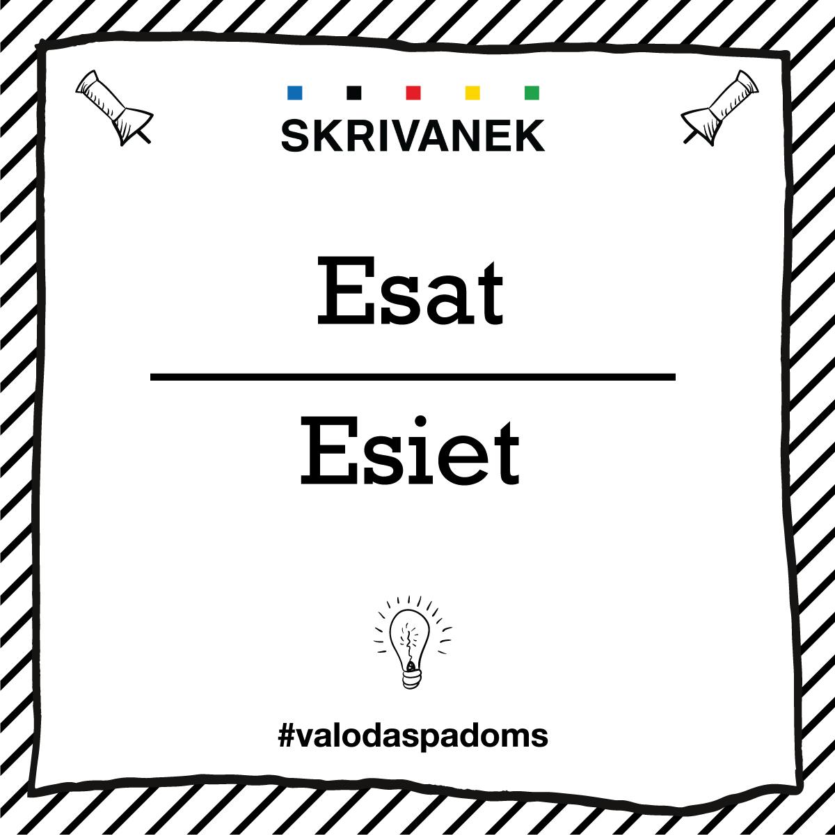 """Skrivanek Baltic valodas padoms """"Esat"""" pret """"Esiet"""""""