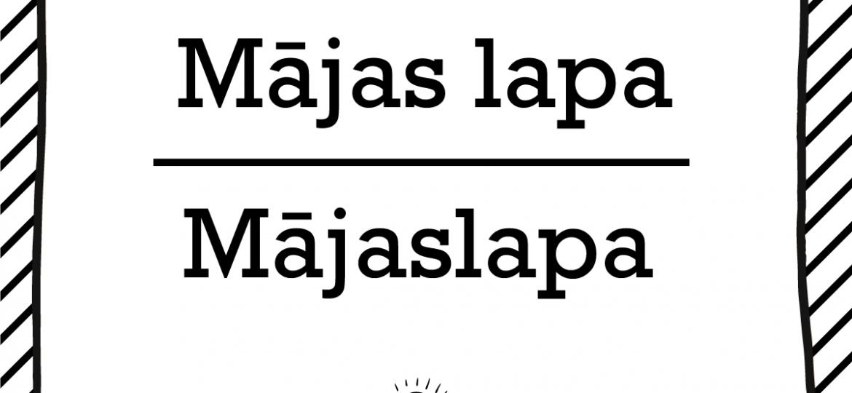 """Skrivanek Baltic valodas padoms """"Mājas lapa"""" pret """"Mājaslapa"""""""