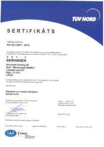 Kvalitātes vadības sertifikāts